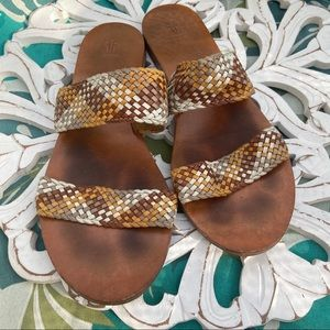 Frye Braided Leather Shoes Sandals Women's 9